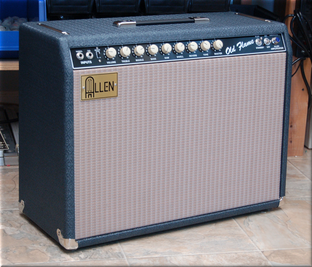 Old Flame Blue Tolex